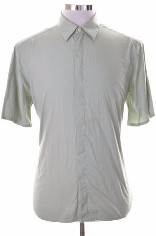 Hugo Boss Mens Shirt Size 40 15 3/4 Medium Green Cotton
