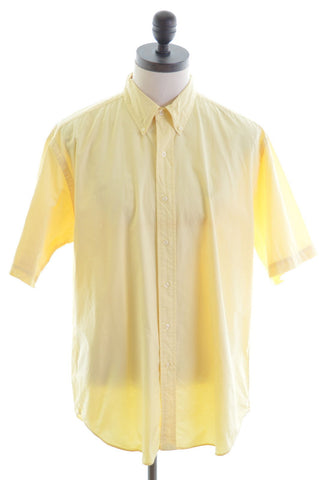 Ralph Lauren Mens Shirt Large Yellow Cotton Blake