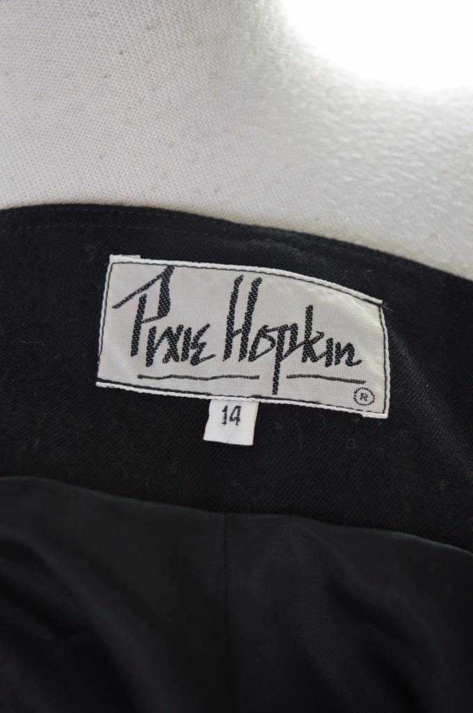 Pixie Hopkin Womens Dress Size 14 Medium Black Wool - Second Hand & Vintage Designer Clothing - Messina Hembry