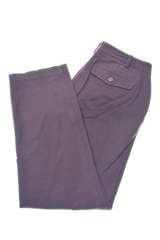 RALPH LAUREN Womens Trousers W33 L26 Burgundy Cotton