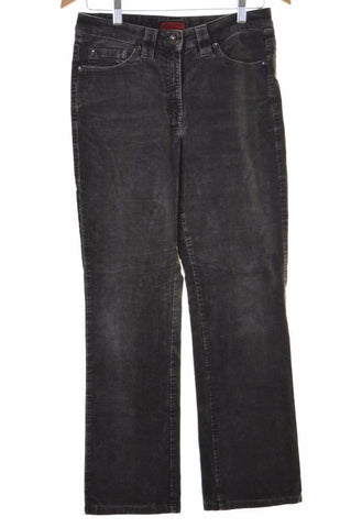 Pierre Cardin Womens Corduroy Jeans Size 38 W30 L28 Grey Cotton Straight