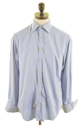 TED BAKER Mens Shirt Size 40 1/2 16 Large Blue Cotton