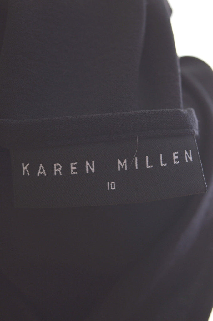 KAREN MILLEN Womens Maxi Dress Size 10 Small Black Viscose - Second Hand & Vintage Designer Clothing - Messina Hembry
