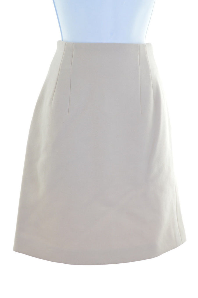 TREND LES COPAINS Womens Straight Skirt W26 L20 Beige - Second Hand & Vintage Designer Clothing - Messina Hembry