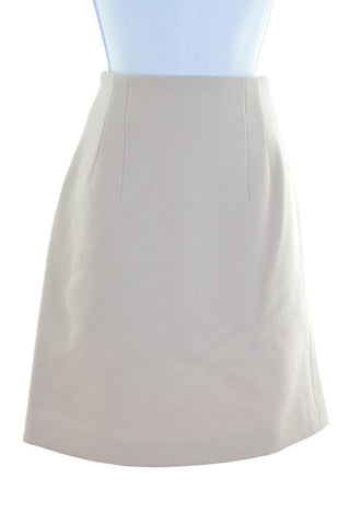 TREND LES COPAINS Womens Straight Skirt W26 L20 Beige