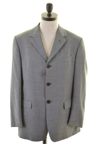 VALENTINO ZONE Mens 3 Button Blazer Jacket Size 42 Large Grey
