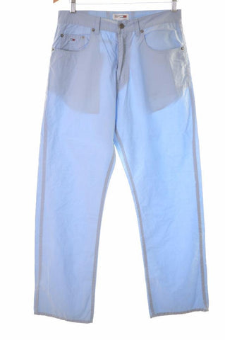 Tommy Hilfiger Womens Trousers W32 L30 Blue Cotton