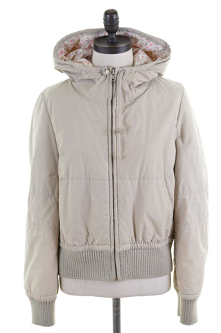 JIGSAW Womens Jacket Size 14 Medium Beige Cotton
