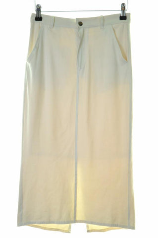 Just Cavalli Womens Pencil Suede Skirt Size 36 W25 White Polyester