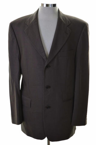 Hugo Boss Mens Blazer Jacket Size 40 Medium Grey Wool Viscose