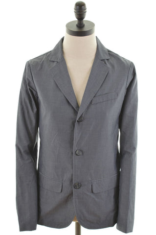United Colors of Benetton Womens Three Button Blazer Jacket Size 12 Medium Grey