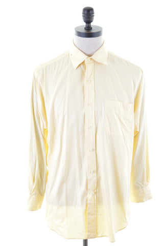 POLO RALPH LAUREN Mens Shirt Large Yellow Cotton Curham