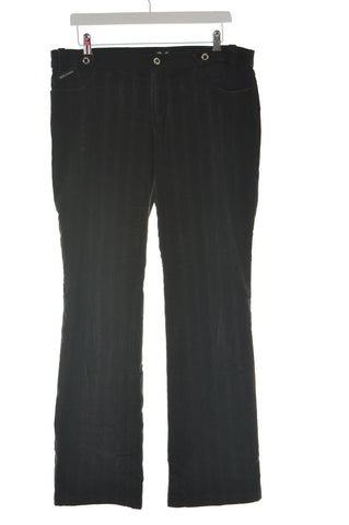 Dolce & Gabbana Womens Velvet Trousers W32 L30 Black Cotton Flare