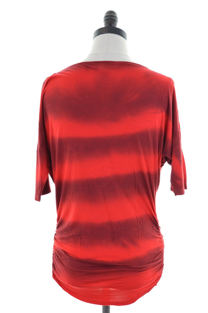 INC INTERNATIONAL CONCEPTS Womens Tunic Top Size 10 Small Red - Second Hand & Vintage Designer Clothing - Messina Hembry