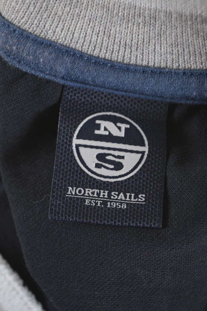 NORTH SAILS Boys Polo Shirt Size 10 Medium Black Cotton Loose Fit - Second Hand & Vintage Designer Clothing - Messina Hembry