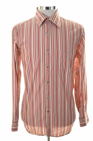 Joop Mens Shirt Size 40 15 3/4 Medium Multi Stripe Cotton