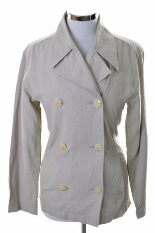 Joop Womens Jacket Small Beige Linen Cotton