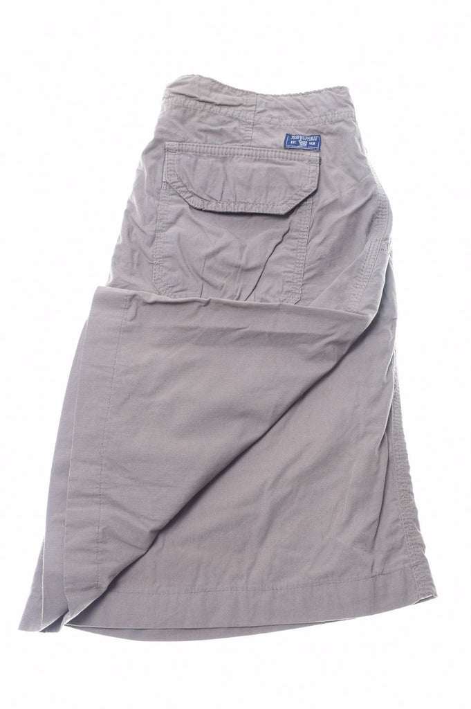 WOOLRICH Womens Drawstring Shorts W28 Khaki Cotton - Second Hand & Vintage Designer Clothing - Messina Hembry