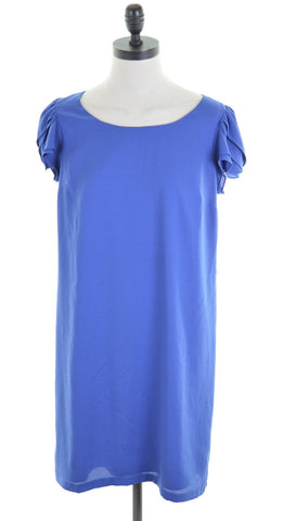 ANN TAYLOR LOFT Womens Shift Dress Size 6 XS Blue Polyester Oversized