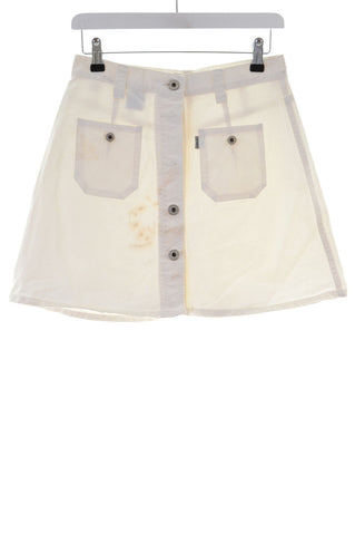 Replay Womens Skirt W27 L15 White Cotton A-line