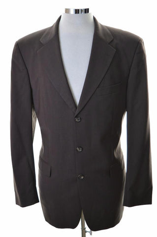 Hugo Boss Mens Blazer Jacket Size 42 Large Brown Wool Nylon