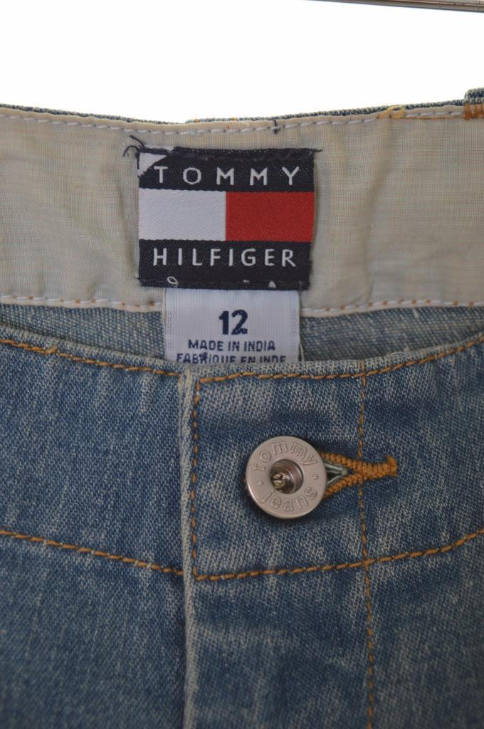 Tommy Hilfiger Womens Denim Shorts XS W25 Blue Cotton Spandex - Second Hand & Vintage Designer Clothing - Messina Hembry