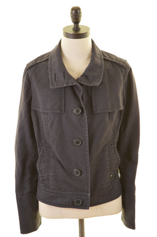 TED BAKER Womens Jacket Size 12 Medium Navy Blue Cotton