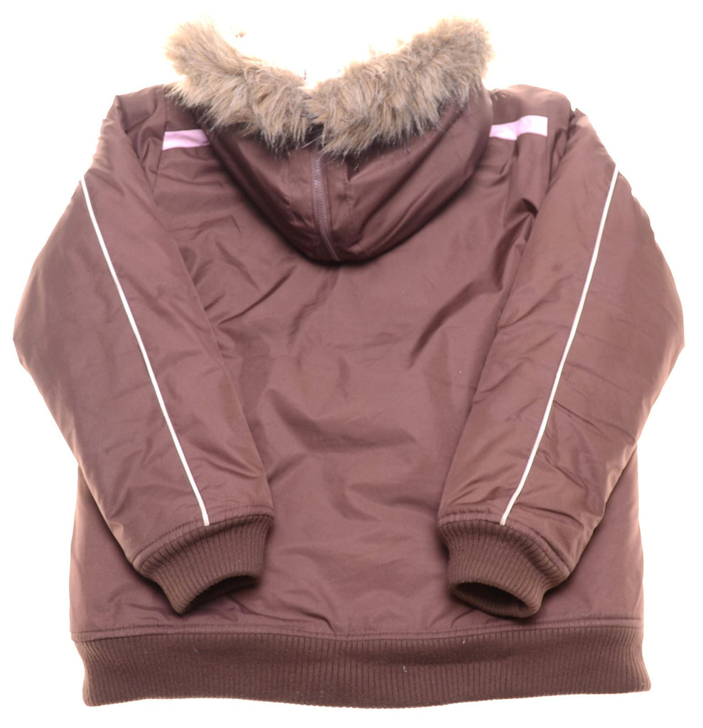 LOTTO Girls Padded Jacket 13-14 Years Large Brown Polyester - Second Hand & Vintage Designer Clothing - Messina Hembry