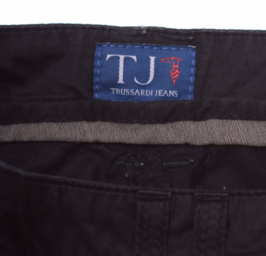 TRUSSARDI Womens Trousers IT 44 W30 L27 Black Cotton - Second Hand & Vintage Designer Clothing - Messina Hembry