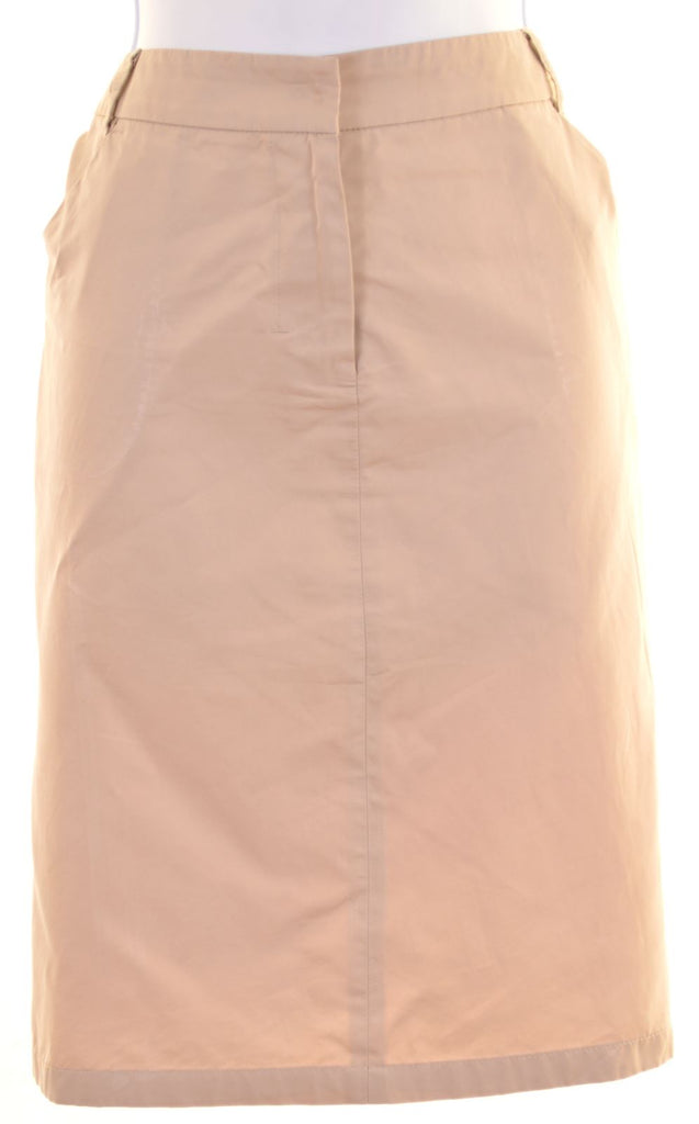 MAX MARA Womens Straight Skirt UK 10 W28 L20 Beige Polyester - Second Hand & Vintage Designer Clothing - Messina Hembry