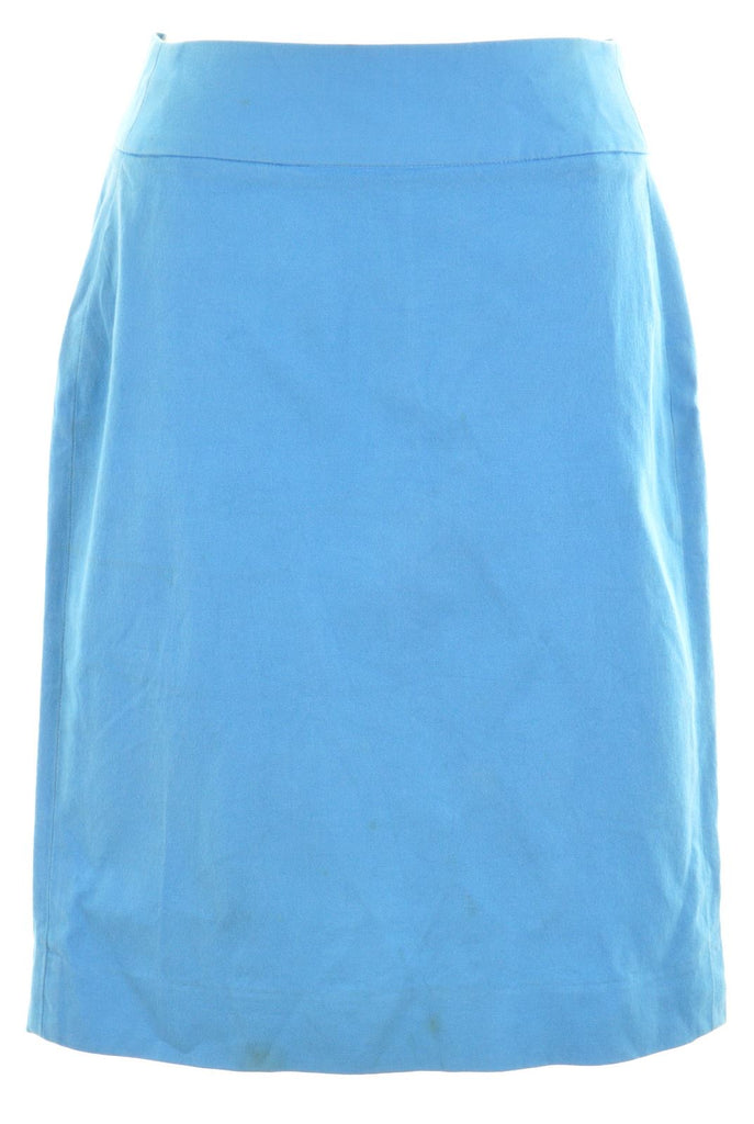 BANANA REPUBLIC Womens Pencil Skirt US 0 W24 L20 Blue Cotton - Second Hand & Vintage Designer Clothing - Messina Hembry