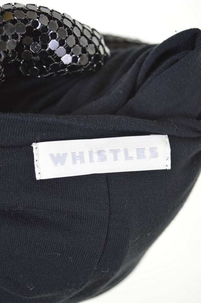 WHISTLES Womens Dress Size 4 XS Black Viscose - Second Hand & Vintage Designer Clothing - Messina Hembry