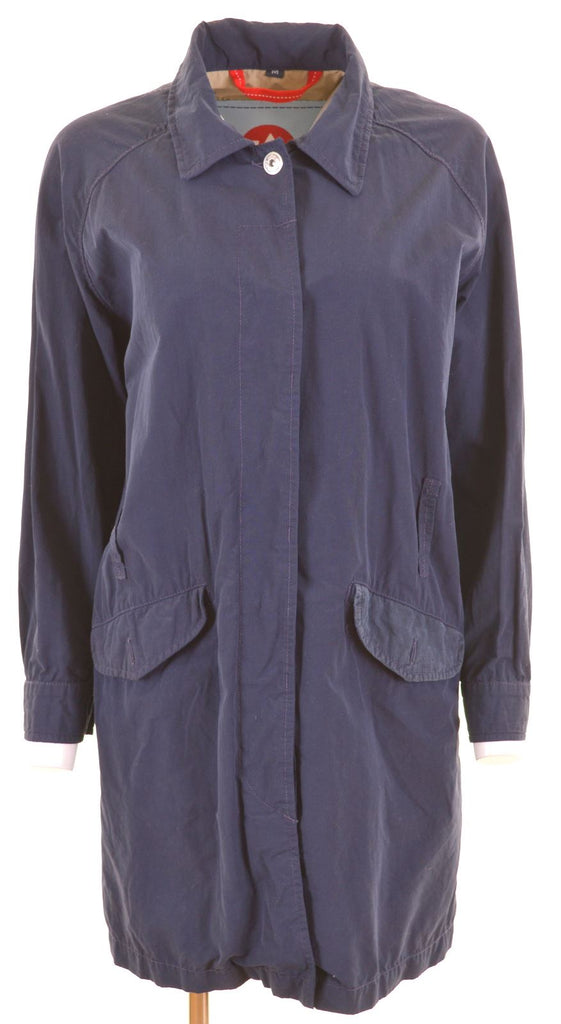 MURPHY & NYE Womens Top Coat Size 14 Medium Blue Cotton - Second Hand & Vintage Designer Clothing - Messina Hembry