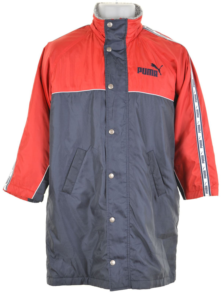 PUMA Boys Windbreaker Jacket 7-8 Years Navy Blue Vintage - Second Hand & Vintage Designer Clothing - Messina Hembry