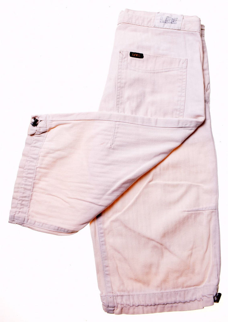 LEE Womens Casual Shorts W26 Off White Cotton - Second Hand & Vintage Designer Clothing - Messina Hembry