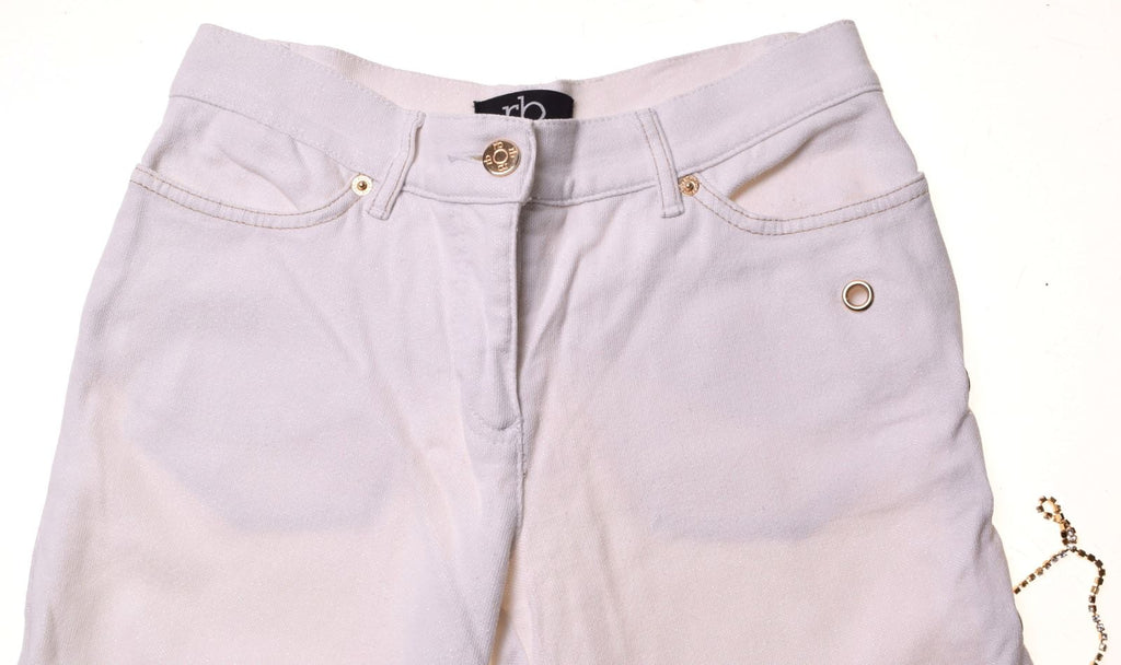 ROCCOBAROCCO Womens Jeans W28 L28 White Cotton Slim - Second Hand & Vintage Designer Clothing - Messina Hembry