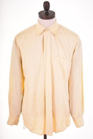 DKNY Mens Shirt Size 15 1/2 Medium Yellow Cotton