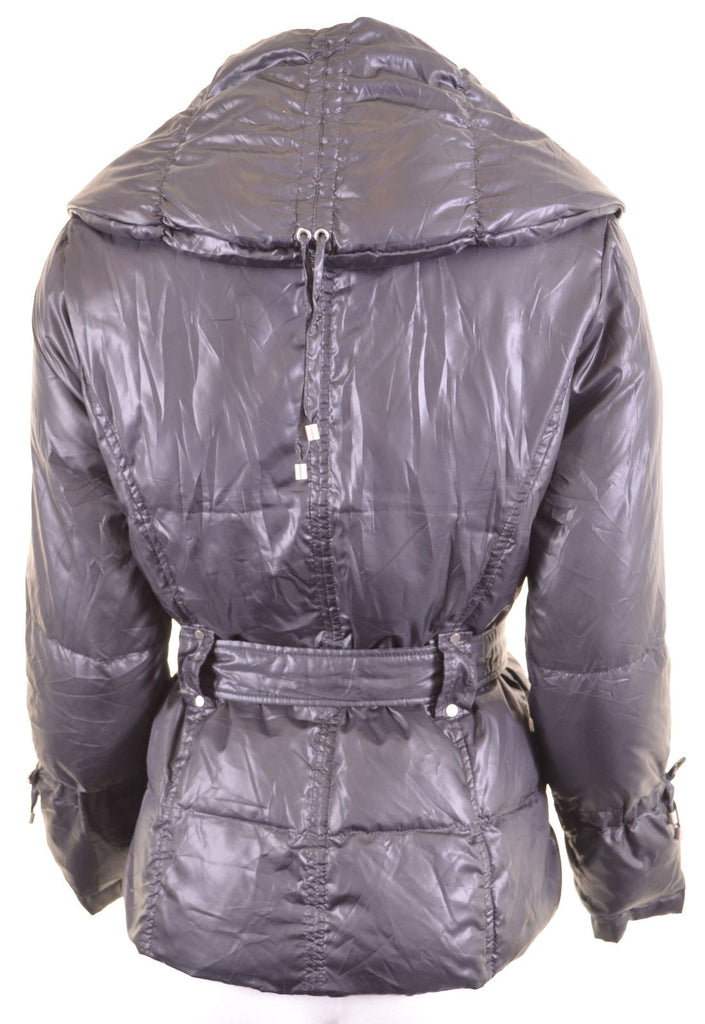MARGI COLLECTION Womens Padded Jacket Size 10 Small Navy Blue Polyester - Second Hand & Vintage Designer Clothing - Messina Hembry