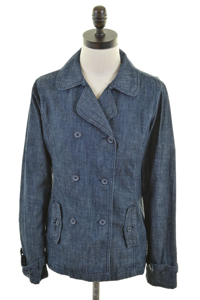 BENETTON Girls Double Breasted Blazer Jacket 11-12 Years 2XL Cotton - Second Hand & Vintage Designer Clothing - Messina Hembry