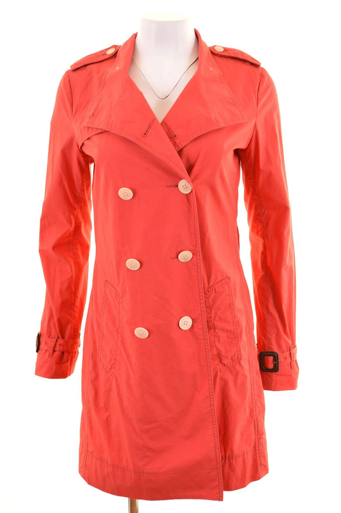 RALPH LAUREN Womens Peacoat Size 10 Small Red Cotton - Second Hand & Vintage Designer Clothing - Messina Hembry