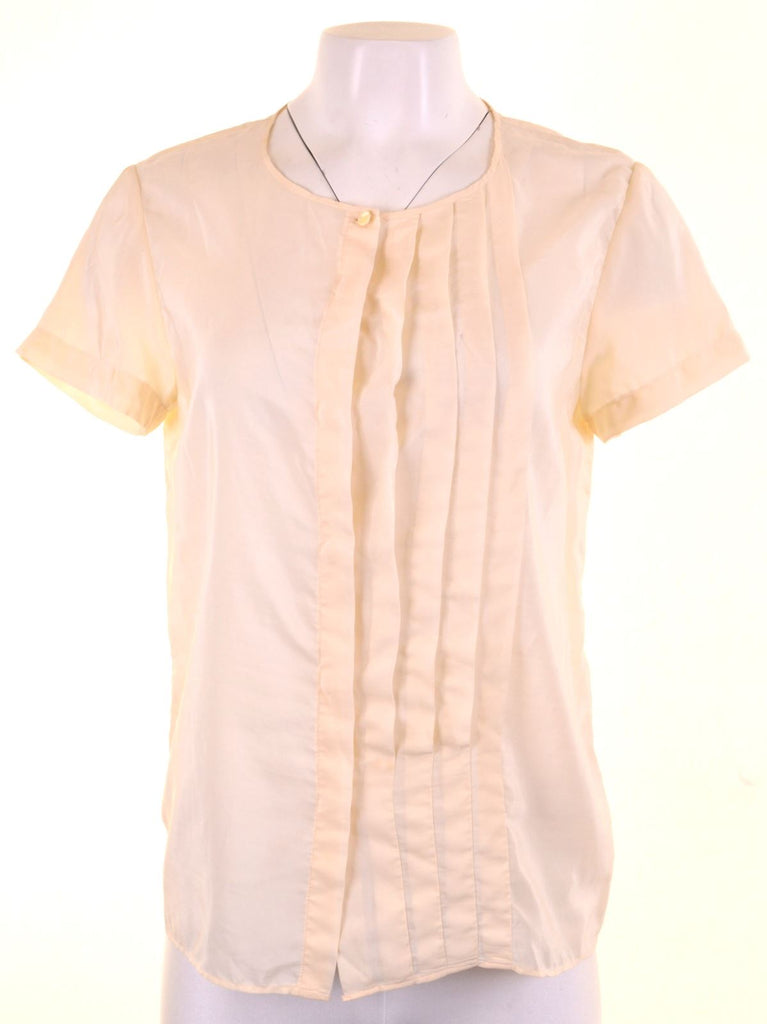 Womens Shirt Blouse Size 14 Large Beige - Second Hand & Vintage Designer Clothing - Messina Hembry