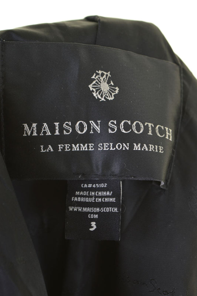 MAISON SCOTCH Womens Double Breasted Coat Size 3 Medium Navy Blue Wool - Second Hand & Vintage Designer Clothing - Messina Hembry