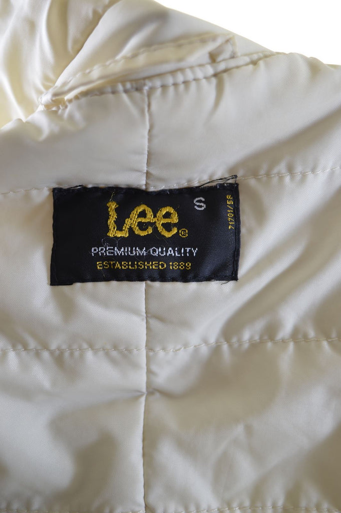 LEE Womens Padded Jacket Size 10 Small Yellow Polyamide - Second Hand & Vintage Designer Clothing - Messina Hembry