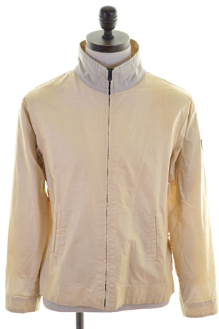 PEPE JEANS Womens Jacket Size 14 Large Yellow Ramie Cotton