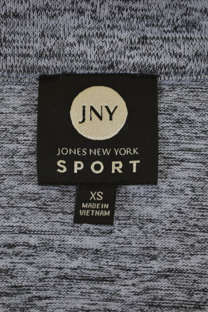 JONES NEW YORK Womens Cardigan Sweater Size 6 XS Grey Polyester - Second Hand & Vintage Designer Clothing - Messina Hembry