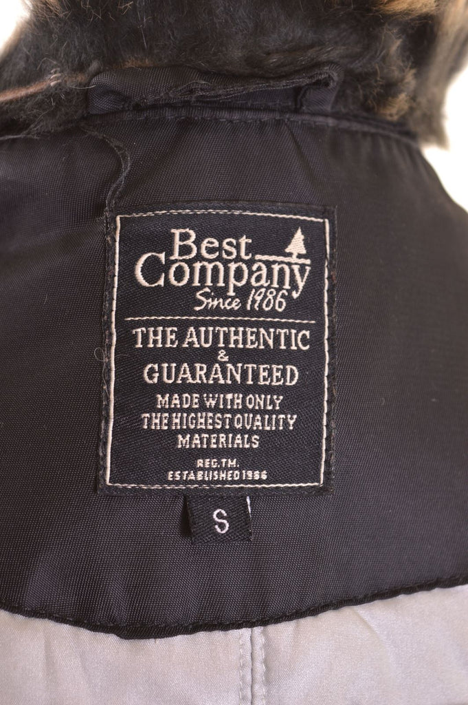 BEST COMPANY Womens Windbreaker Jacket Size 10 Small Black Nylon - Second Hand & Vintage Designer Clothing - Messina Hembry