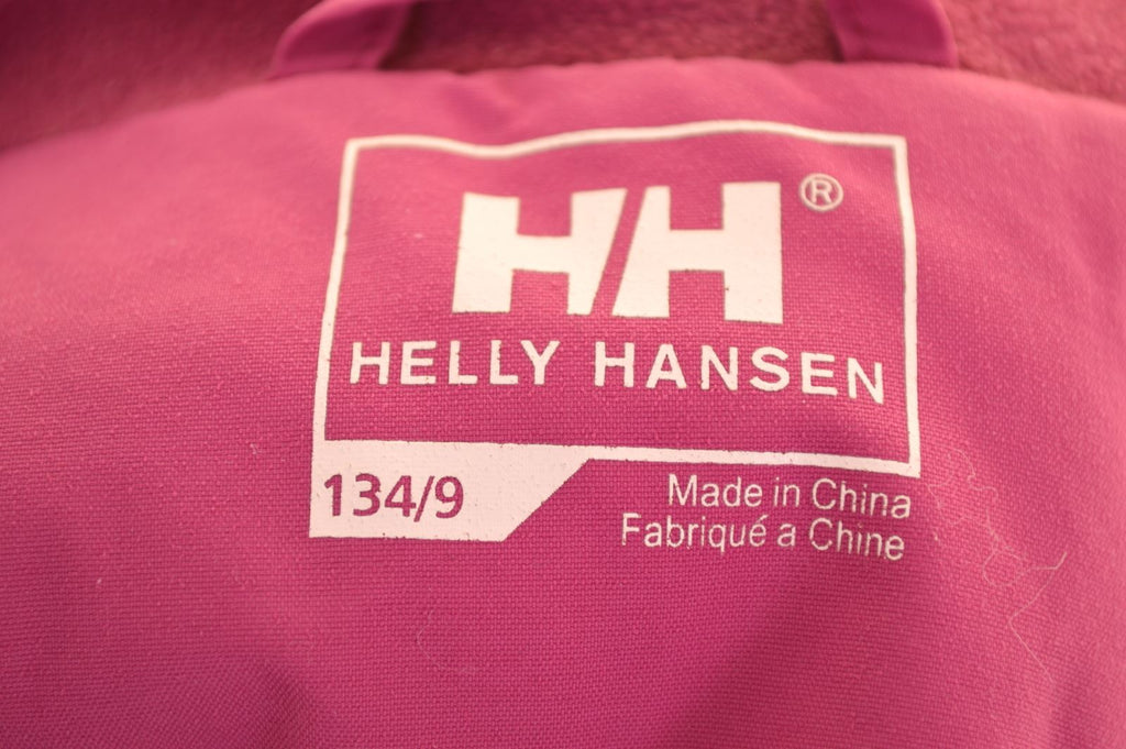 HELLY HANSEN Girls Windbreaker Jacket 8-9 Years Pink Polyamide - Second Hand & Vintage Designer Clothing - Messina Hembry