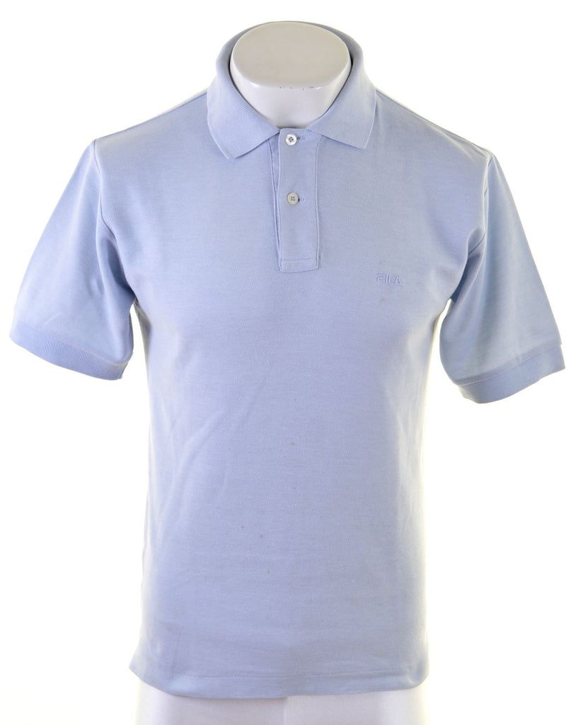 FILA Mens Polo Shirt IT 44 XS Blue Cotton - Second Hand & Vintage Designer Clothing - Messina Hembry
