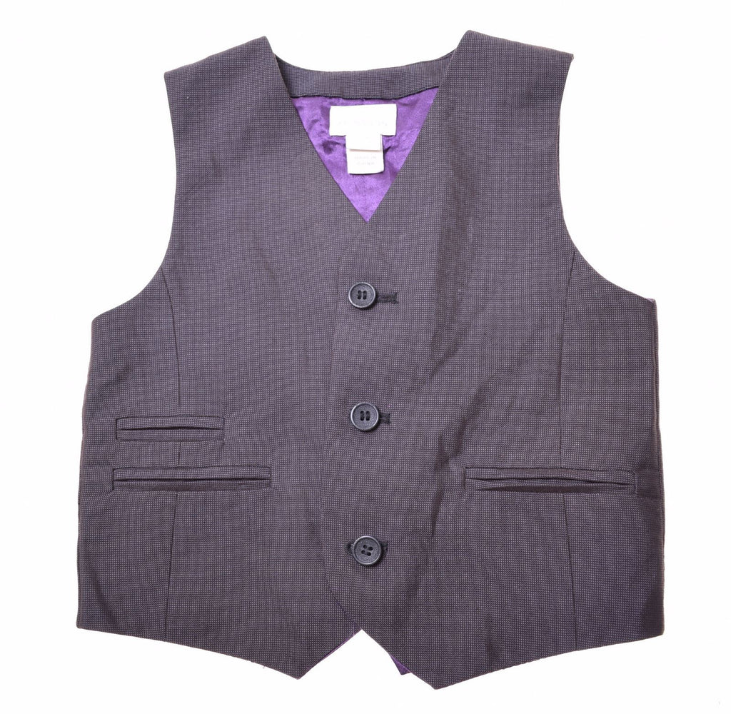 MONSOON Boys Waistcoat 2-3 Years Brown Polyester - Second Hand & Vintage Designer Clothing - Messina Hembry