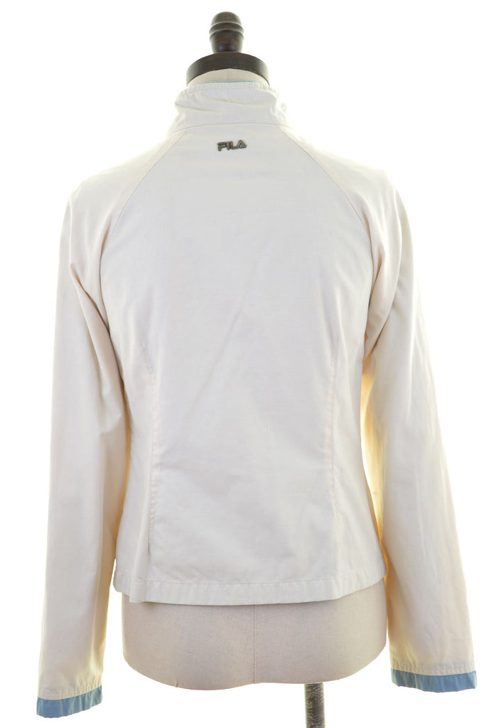 FILA Womens Overjacket Size 10 Small Off White Cotton Vintage - Second Hand & Vintage Designer Clothing - Messina Hembry